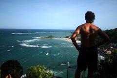 第一个,第二个和第三个海滩的看法从灯塔的 图库摄影