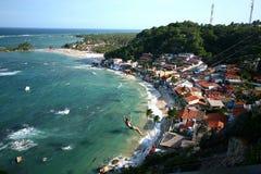 第一个,第二个和第三个海滩的看法从灯塔的 M 免版税库存照片