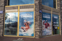 第一个VR戏院在欧洲在阿姆斯特丹 库存照片