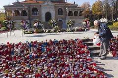第一位克罗地亚总统弗拉尼奥・图季曼坟墓  免版税库存图片
