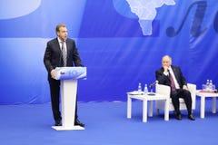 第一位副总理伊戈尔・图多尔讲话 库存图片