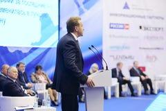 第一位副总理伊戈尔・图多尔讲话 免版税库存图片
