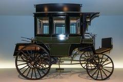 第一公共汽车苯多项(苯动力化的公共汽车), 1895 免版税库存照片