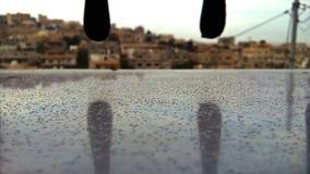 第一冬天雨在11月 库存照片