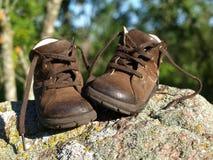 第一双鞋子 库存照片