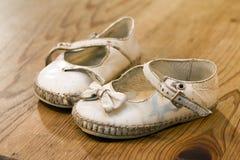 第一双鞋子 免版税库存照片