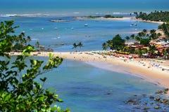 第一和第二个海滩在Morro de SA£oo保罗,巴伊亚 免版税库存照片