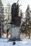 第一和第六步兵团纪念品在全国劳动人民文化宫前面的公园 库存图片