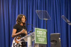 第一夫人米歇尔・奥巴马 免版税库存照片