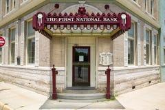 第一家国家银行 库存照片