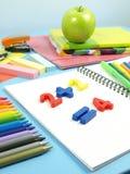 第一家庭作业 免版税库存照片
