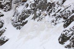 第一山雪 库存照片
