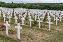 第一座世界大战纪念公墓在凡尔登,法国 免版税库存图片