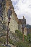 第一座德雷库拉城堡废墟  免版税库存图片
