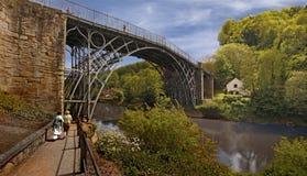 第一座铁桥梁 库存照片