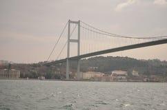 第一座Bosphorus桥梁,伊斯坦布尔,火鸡 免版税库存照片