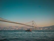 第一座Bosphorus桥梁 免版税库存照片