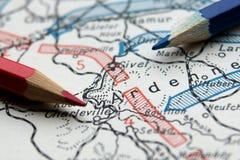 第一张世界大战地图 免版税库存照片