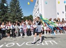 第一所学校bell_11的庆祝 库存照片