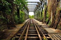 第一条铁路在罗马尼亚布加勒斯特久尔久 库存照片