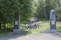 第一条铁路在美国 库存照片