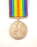 第一枚奖牌银色战争世界 免版税库存图片