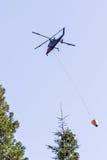 第一架反应火直升机 免版税库存照片