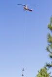 第一架反应火直升机 免版税库存图片