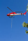 第一架反应火直升机 库存图片