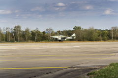 第一架操作的喷气机动力的战机Messerschmitt我262 Schwalbe飞行 免版税库存图片