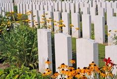 第一次世界大战公墓,富兰德 免版税库存图片