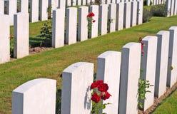 第一次世界大战公墓,富兰德 库存照片