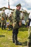 第一次世界大战军事历史重建争斗  库存图片
