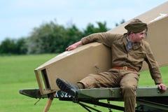 第一次世界大战地面机务人员 库存图片