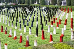 第一次世界大战战争公墓-为家园下落的英雄-经验丰富的阵亡将士纪念日 免版税库存照片