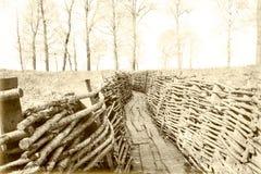 第一次世界大战沟槽比利时富兰德 免版税库存图片