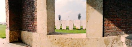 第一次世界大战的军事公墓 免版税库存照片