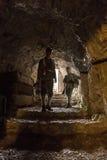 第一次世界大战的奥匈帝国士兵在洞穴的 库存图片