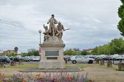第一次世界大战的纪念碑在法国镇 库存照片