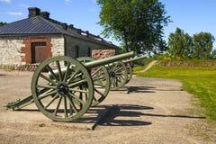 第一次世界大战的老大炮 免版税库存照片