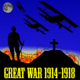 第一次世界大战(巨大战争)的例证 免版税图库摄影