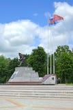 第一次世界大战(纪念碑刺刀攻击)的历史纪念复合体  免版税图库摄影