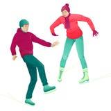 第一溜冰场次 免版税库存照片