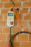 第一电在房子里 免版税图库摄影