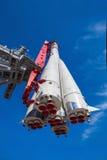 第一艘俄国太空飞船沃斯托克 库存图片