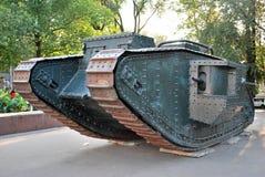 第一辆坦克 库存照片