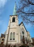 第一长老会制垂直的全景在Evanston芝加哥 免版税库存照片