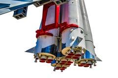 第一阶段和航天器沃斯托克1推进力喷管  免版税库存照片