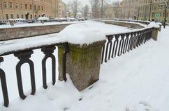 第一雪在11月 免版税库存照片