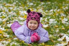 第一雪年 库存图片